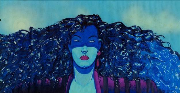 Andrea Pazienza - Manifesto disegnato nel 1980 per il film di Federco Fellini La città delle donne