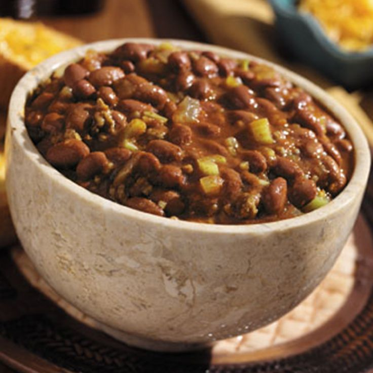 This classic chili with ground beef has lots of celery, chili beans and heat, and it's ready in about an hour.