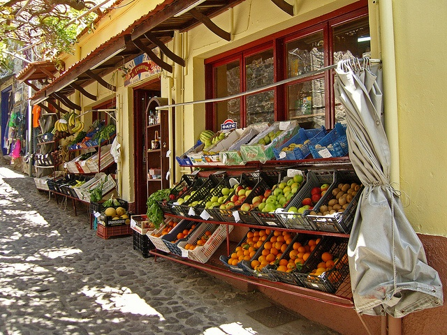 Molivos castle supermarkedo Molivos,Lesvos,Greece May 2011 by Mick Sway, via Flickr