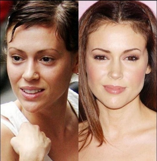 Alyssa Milano Without Makeup