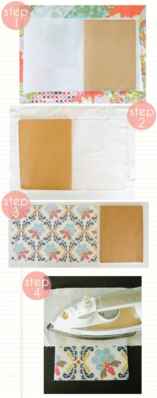 diy fabric covered notebook or photoalbum
