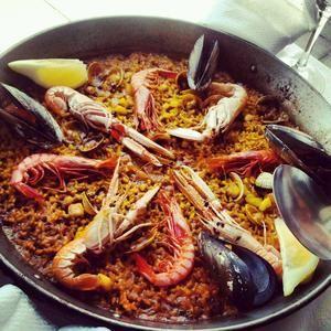 Paella marinera para dos. #Seafood #paella for two. <3 #alicante
