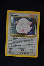 Chansey 3/102 Holo Rare  Pokemon Original Card Base Set NEAR MINT 1999