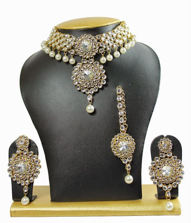 Indian Gold Plated Stones Kundan Necklace Earrings Party: 17 Best Elegant Kundan Wedding Wear Indian Necklace