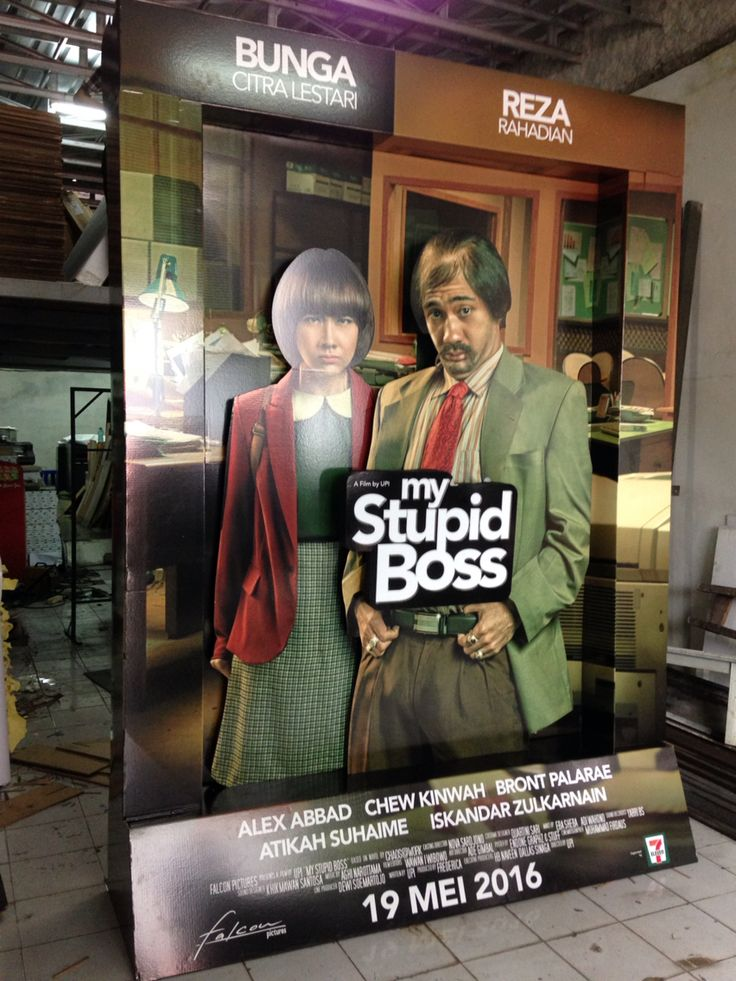 giant movie standee agains from indonesia