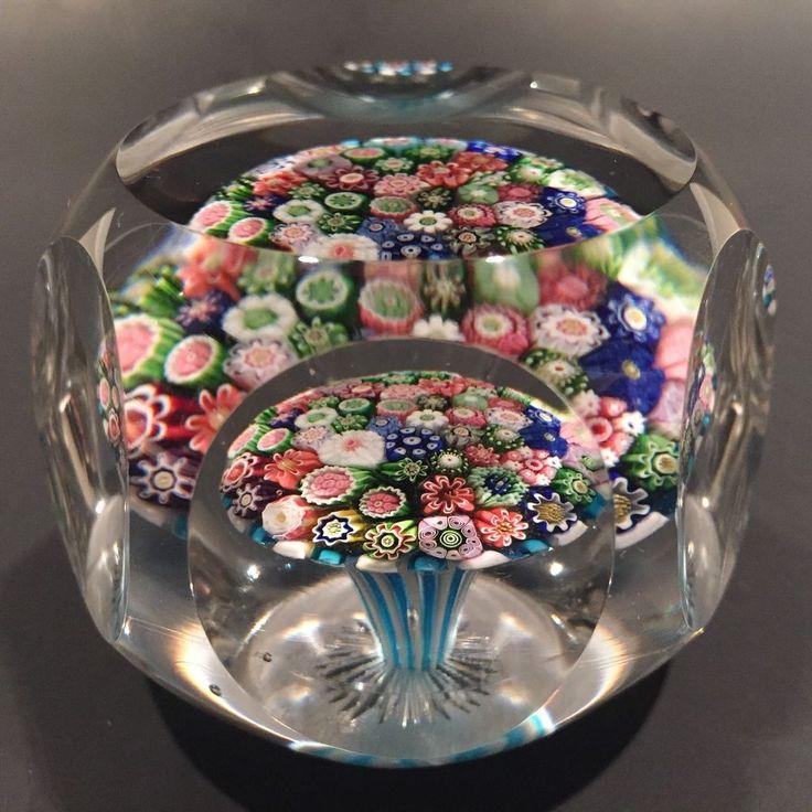 "Rare Antique Clichy Art-Glass Paperweight Close Packed Millefiori Mushroom | 2-5/8""Dia x 2""Tall - unsigned | eBay♥♥"