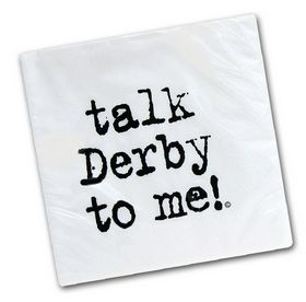 Talk Derby to Me! Paper Lunch Napkins - Pkg/25 Kentucky Derby Party - KY Derby Party - By Taste of Kentucky #TDTM L napkin - 740016832089 at Horse and Hound Gallery