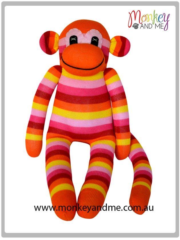 Mango the Sock Monkey  Adopt over at http://monkeyandme.com.au #sockmonkeys #gifts #toys