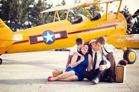 The Frosted Petticoat: Come fly with me! Family portraits at the airport.