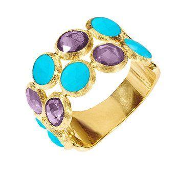 Freida Rothman Turquoise Mixed Shape Set of 2 Rings - UK U - US 10 1/4 - EU 62 3/4 2sIOIPTxm