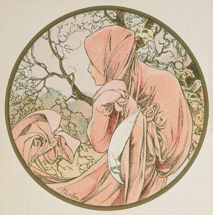 Alphonse Mucha | The Months - January, 1899.  Art Experience NYC  www.artexperiencenyc.com/social_login/?utm_source=pinterest_medium=pins_content=pinterest_pins_campaign=pinterest_initial