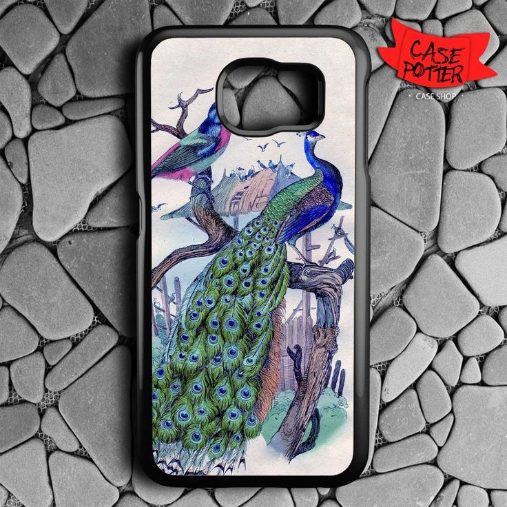 Beatiful Peacock Samsung Galaxy S7 Black Case