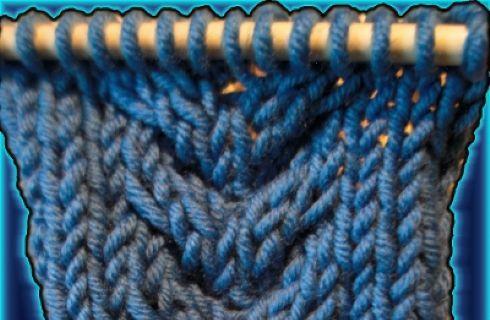 Punti maglia ai ferri: treccia a cuore - Donnaclick