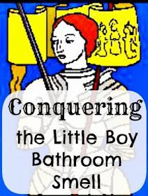 Kentucky Sketches: Conquering the Little Boy Bathroom Smell  (this actually worked pretty well but took a long time to get it all mopped up)