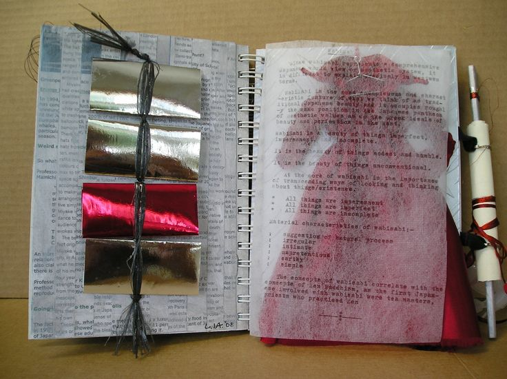 more pages from a Visual Journal..these with a Japanese theme....Issey Miyake ...and whaling!