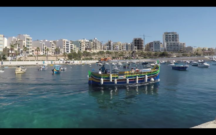 Water taxi at Sliema
