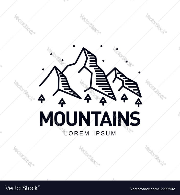 Vector image of Landscape with mountains trees and sky Vector Image, includes logo, trees, snow, design & landscape. Illustrator (.ai), EPS, PDF and JPG image formats.