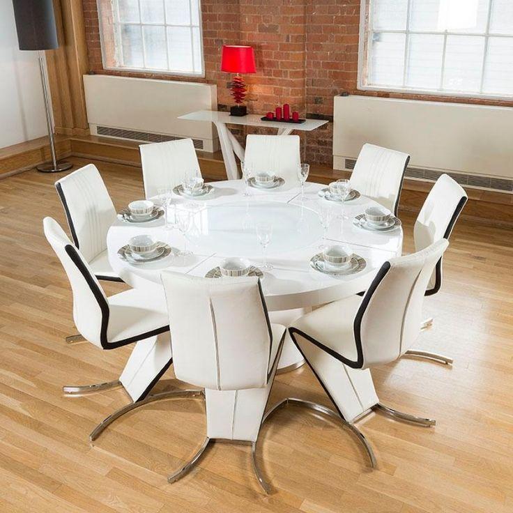 9 Best Stunning Designer Large Round Dining Table Images On Stunning Large Round Dining Room Tables Design Ideas
