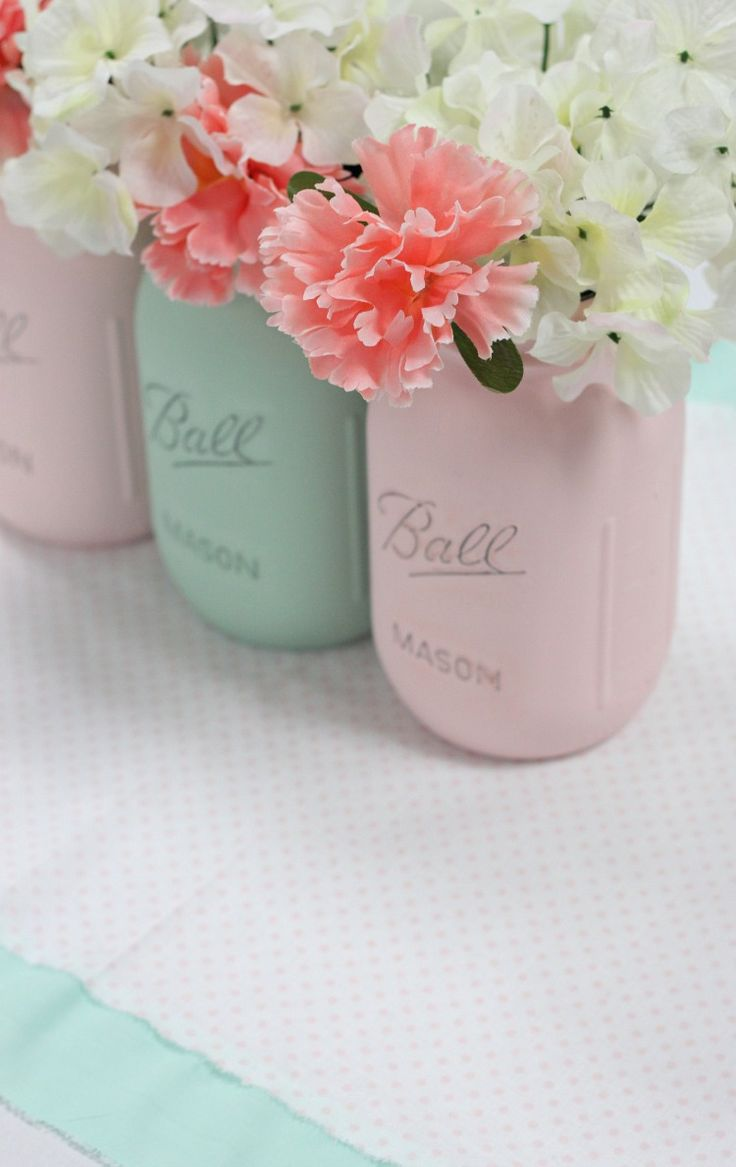 Mint and Green Wedding Ideas | Wedding Shower Centerpieces
