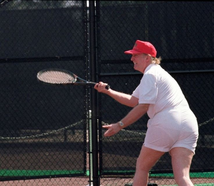 Just a picture of Donald Trump playing tennis... : pics