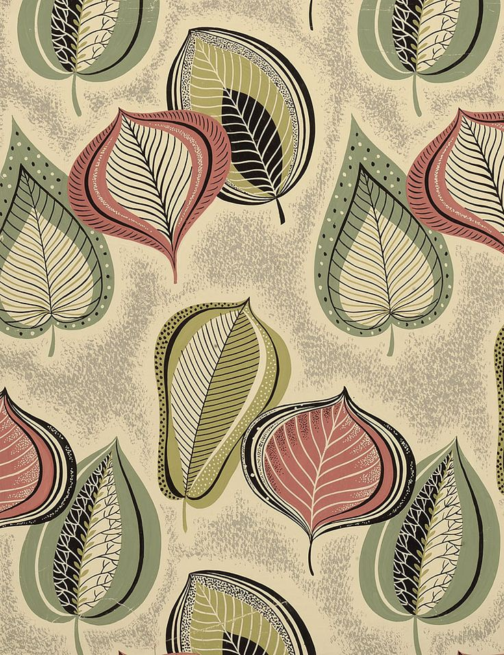 Image detail for -1950s original designs for wallcovering and textiles / part 2