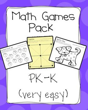large pack of simple common core math games - great for math work stations!