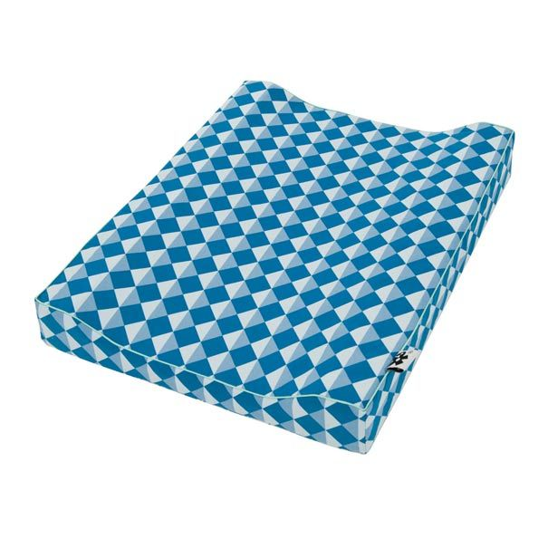 Sebra Puslepude grafisk blå