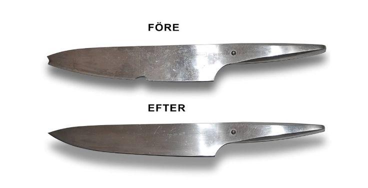 Skicka dina kockknivar, köksknivar, saxar, kvarnsatser på en professionell knivslipning! 100% nöjd kund garanti!