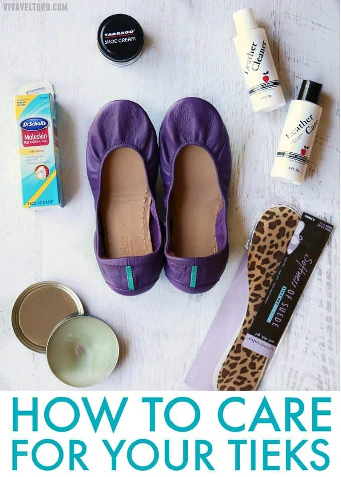 How to take care of your Tieks by Gavrieli ballet flats to keep them looking good for the long haul. You'll love these tips!