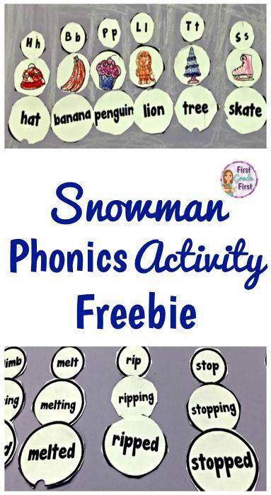 FREE! Try this fun, no prep, winter activity to practice phonics skills.