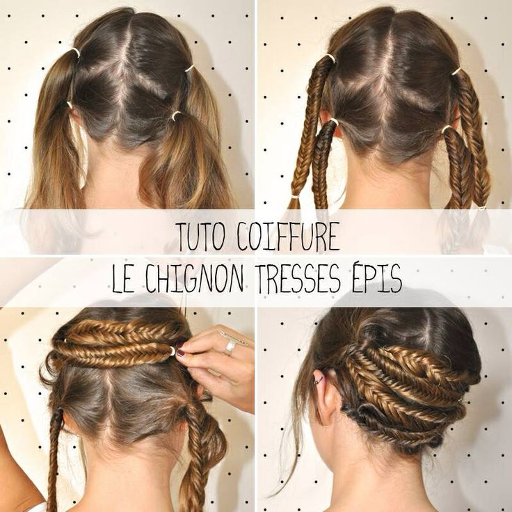 Chignon naté | Tuto coiffure, Coiffure, Coiffures filles