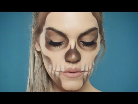 earthtoned skull makeup tutorial // halloween beginner