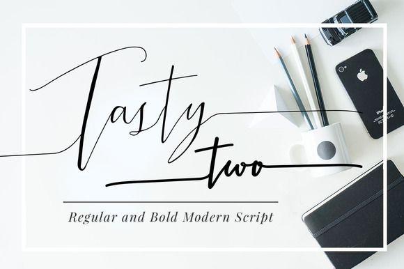 TastyTwo, Modern Script Typeface by mycandythemes on Creative Market