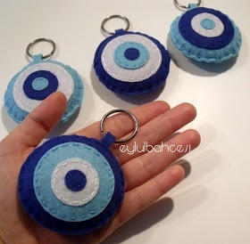 Ƹ̵̡Ӝ̵̨̄Ʒ eylulbahcesi hand craft Ƹ̵̡Ӝ̵̨̄Ʒ: Nazar Boncuğu Keçe Anahtarlıklar