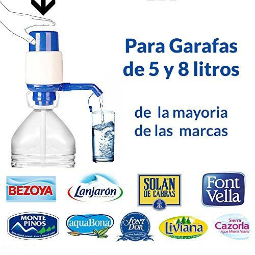 Dispensador de agua manual para garrafas de MovilCom® | Bomba compatible con botellas (PET) de 2,5, 3, 5, 6, 8 y 10 litros | para botellas con el tapón diámetro 38mm y 48mm #Dispensador #agua #manual #para #garrafas #MovilCom® #Bomba #compatible #botellas #(PET) #litros #tapón #diámetro