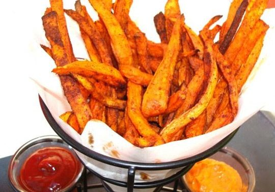 Cajun Yam Fries - Sweet, spicy, and oven-baked! (cannot have enough fries!) - by Chef Chloe