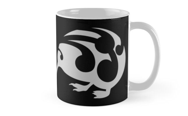 Coffee mug Large Kiwi print designed with koru. The koru (Māori for loop) is a spiral shape based on the shape of a new unfurling silver fern frond and symbolizing new life, growth, strength and peace. It is an integral symbol in Māori art, carving and tattoos. I drew this for a mural a few years ago, thanks to zazzle it is getting a new lease on life. I also have this design with a black kiwi on a white background in my redbubble gallery.