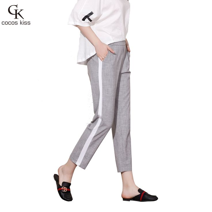 2017 Fashion Womens Slacks Pants Casual Loose Pockets Solid Ankle-length Pants <3 AliExpress Affiliate's Pin. Click the image to find out more