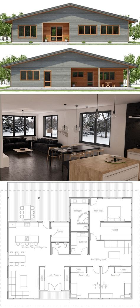 House Plan 2018 Home in 2018 House, House plans, House design - Plan Architecture Maison 100m2