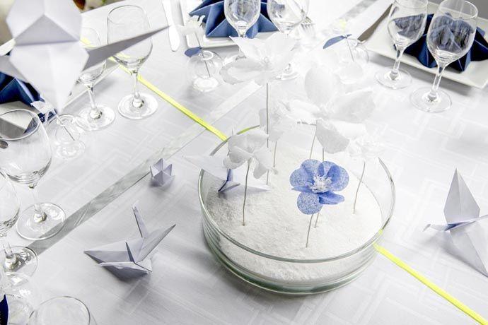 Centre de table coupe plate D Day Deco Origami