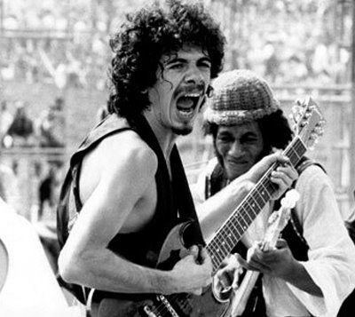 Carlos Santana at Woodstock, 1969