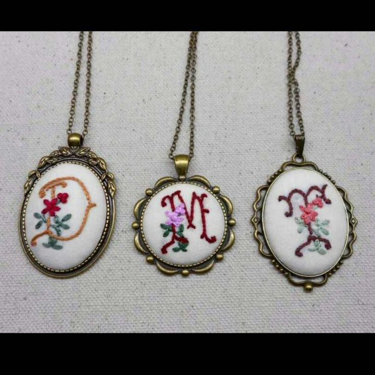 Vintage style initial necklace.
