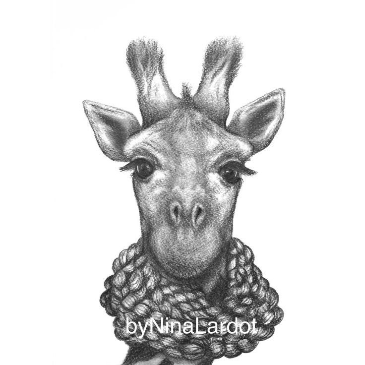 Giraff med halsduk(A5) via byNinaLardot. Click on the image to see more!