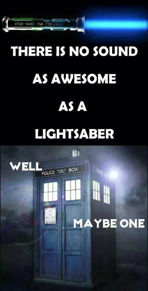 My fiance's phone has the lightsaber sound assigned for my incoming texts. But his female bff (and groomsgirl) gets the TARDIS sound. Trying to not be jealous.... ;)