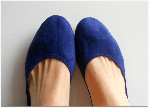 MAYA - Ballet Flats - Suede Shoes -38- Cobalt Blue. Available in different colours & sizes