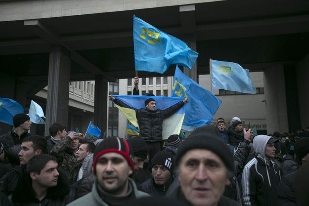 The Tatars, an ethnic Turkic people who are largely secular Muslims, have launched protests against the presence of Russian forces in Crimea.  Russian Takeover Of Crimea Leaves Ethnic Tatars Population In Panic #Amnesty_International, #Євромайдан, #евромайдан, #Human_Rights, #революціягідності, #ukraineprotests, #ukrainian_revolution, #whitehouse, #Automaidan, #civil society, #Constitution of Ukraine, #Crimea, #EuroMaidan, #Kyiv, #NATO, #Ukraine