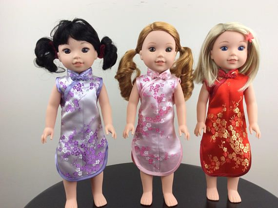 14.5 Inch Doll Chinese Dress Fits like Wellie Wishers