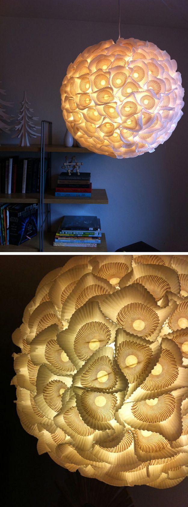 Sculptural Paper Orb Lights   Anthropologie Home Decor Hacks by DIY Ready at http://diyready.com/diy-decor-anthropologie-hacks/