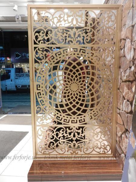 Sel 231 Uklu Osmanlı Deseni Metal Paravan Plasma Cutting