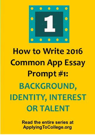 Can i write two different essays for the common app?